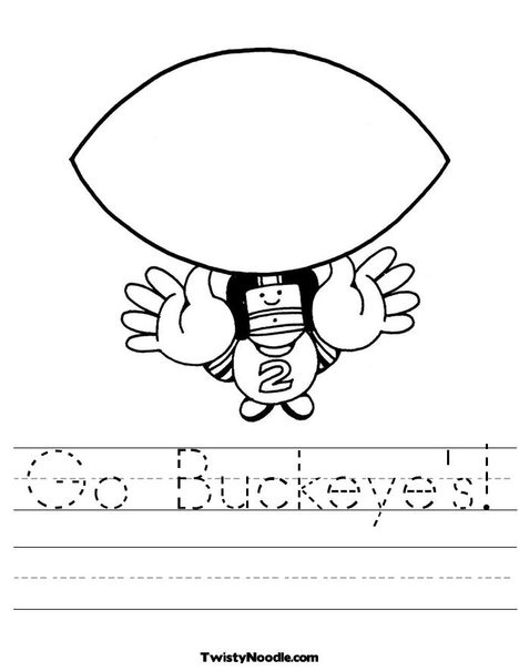 ohio state buckeyes coloring pages - photo#13