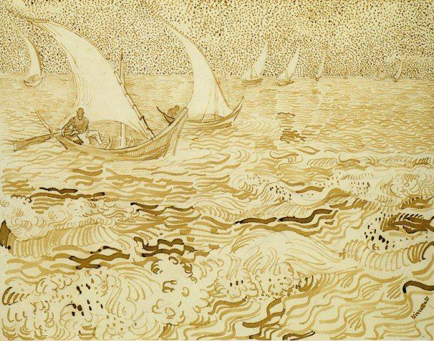 Vincent van Gogh, Fishing Boats at Sea