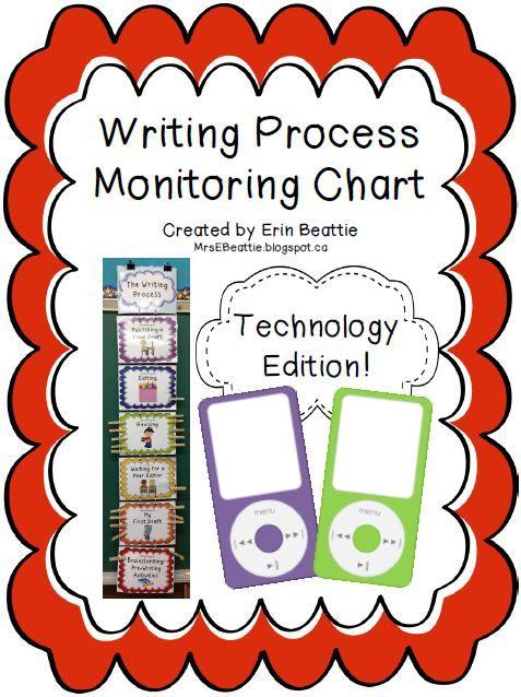 Writing Organization Woes Solved in Mrs. Beattie's Classroom! ~Technology Theme PLUS iTheme BONUS~