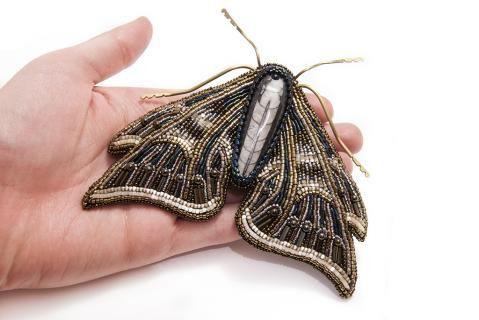 """Брошь """"Мотылек"""". Коллекция """"Lepidoptera""""."""