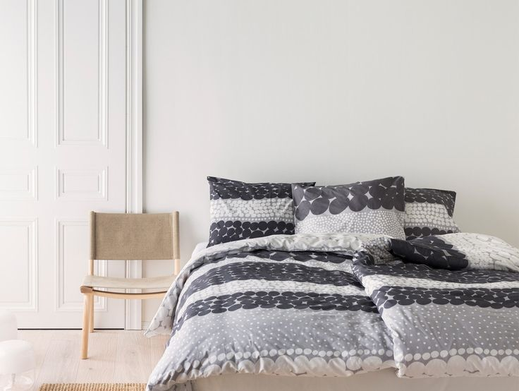 Grey Jurmo Duvet Cover Set by Marimekko