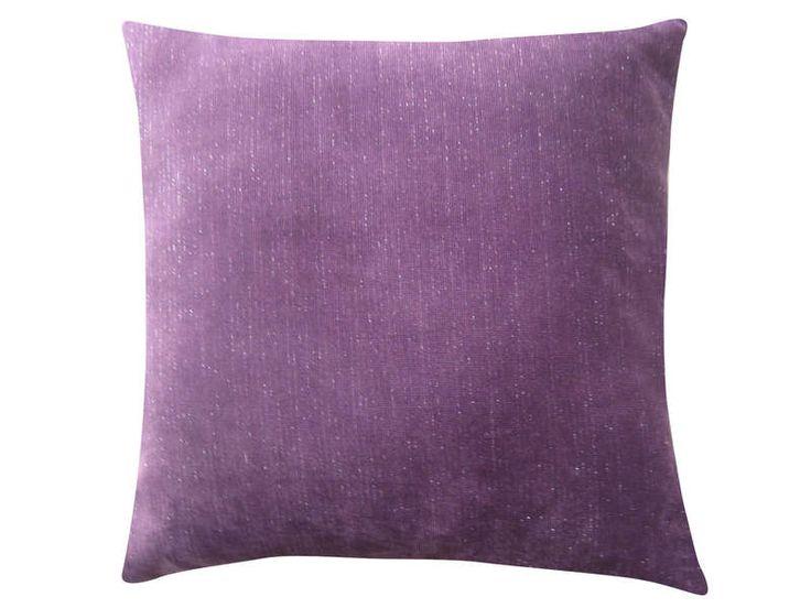 Coussin GLAM coloris violet - Vente de Coussin et housse de coussin - Conforama