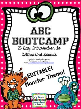 ABC Bootcamp Is A Research Based, Classroom Proven 26 Day Introduction To  The Letters And