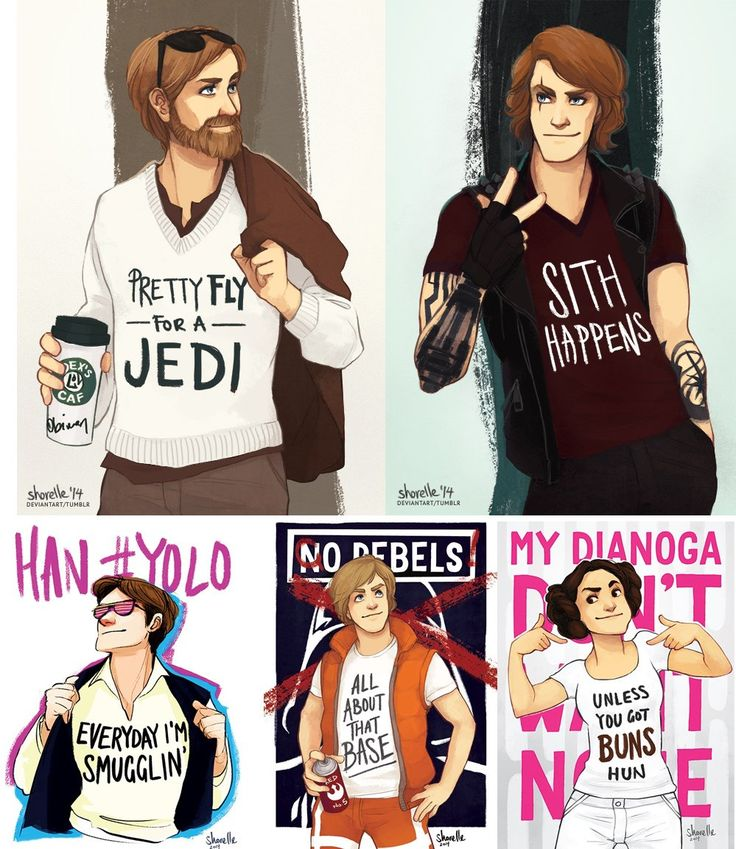 "Modern Millenial Star Wars by Desiree ""shorelle"" Surjadi 