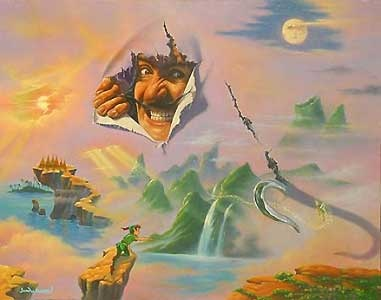 Peter Pan - Hook in Neverland - Jim Warren - World-Wide-Art.com - $675.00