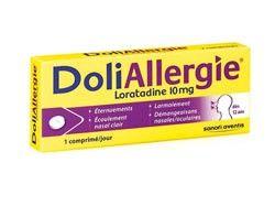 DOLIALLERGIE LORATADINE 10 mg, comprimé est indiqué dans le traitement symptomatique de la rhinite allergique.