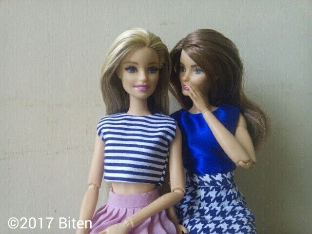 Barbie and friend #bitenproject #barbiestyle