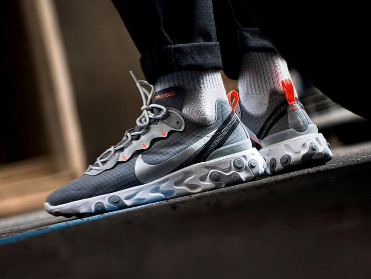 Nike React Element 55 Grise Grid Cool Grey (2019)   Chaussure ...