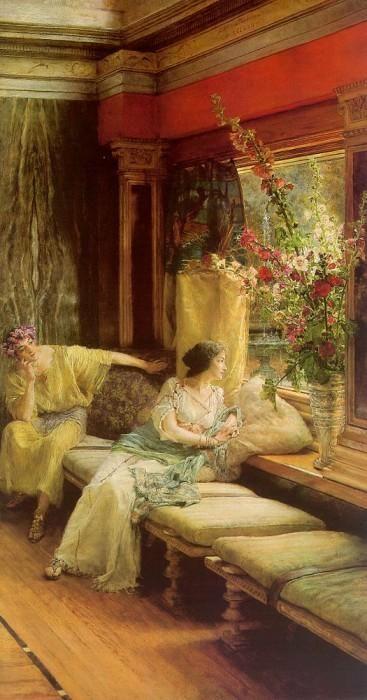 Sir Lawrence Alma-Tadema Dutch, 1836 - 1912 Vain Courtship
