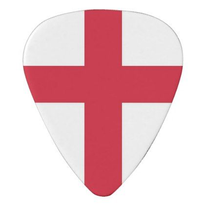 Patriotic guitar pick with Flag of England - elegant gifts gift ideas custom presents