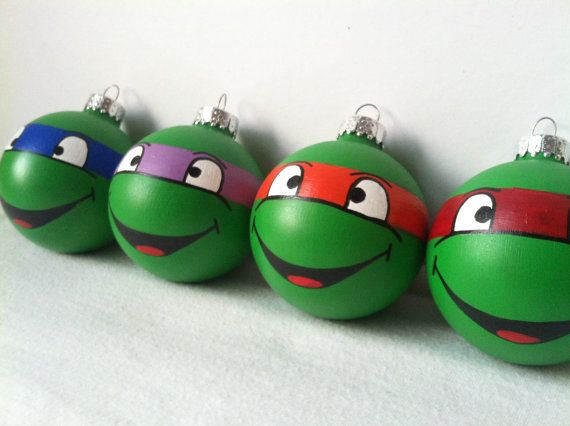 Classic Final Fantasy Painted Ornament Set of 3 by GingerPots