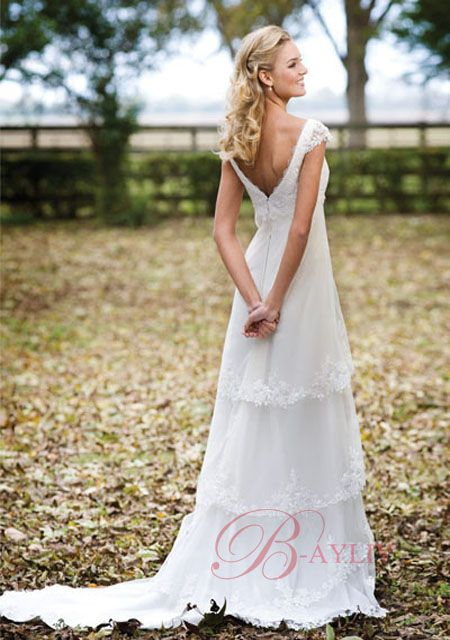 Simple outdoor wedding dress google search wedding for Dress for summer outdoor wedding