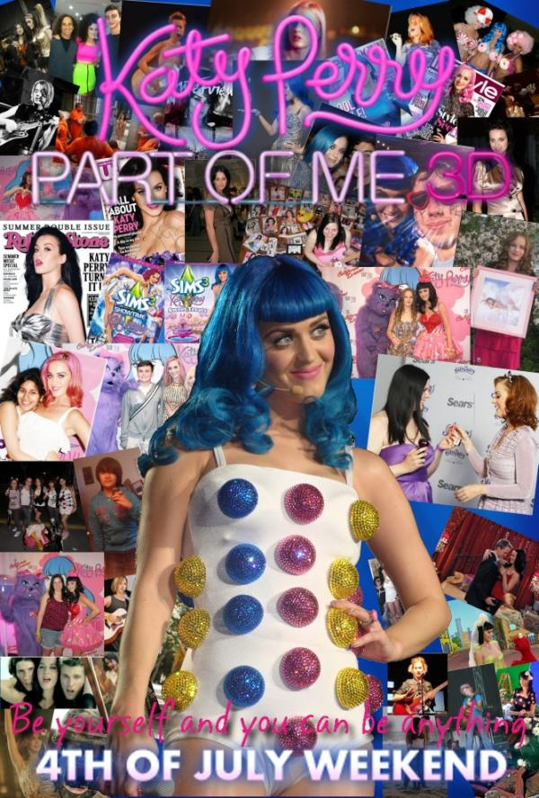 My #KP3D poster, it has pictures of Katy, Katycats, and other fun stuff! :)