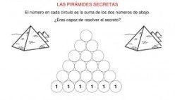 Matemáticas de Primaria: Pirámides secretas 6 alturas sumas.