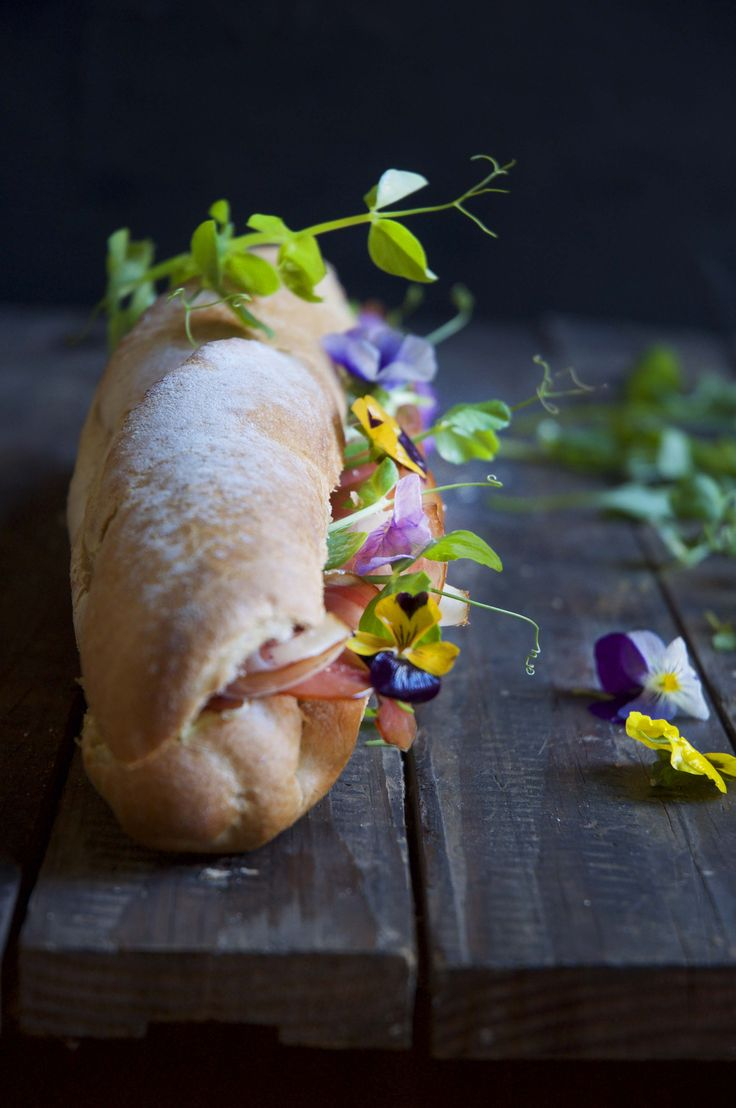 Baguette Parma Labneh Sandwich – who says girls can't have big sandwiches