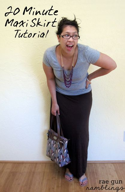 20 min maxi skirt tutorial at Rae Gun Ramblings