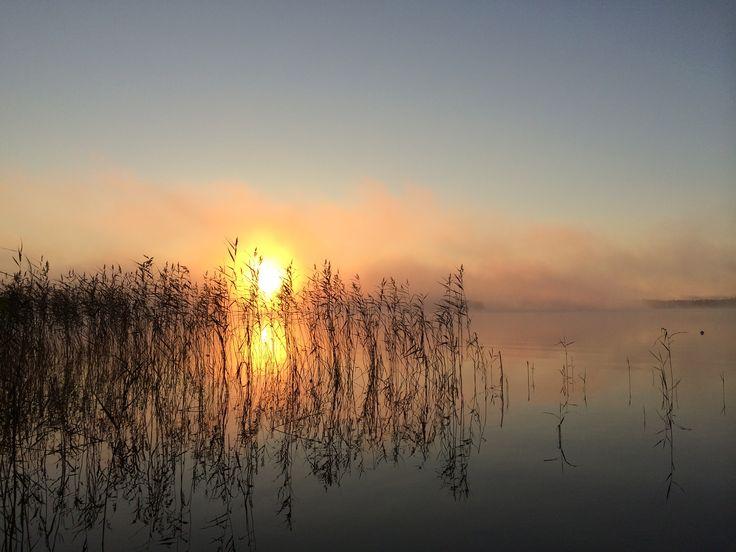 September morning at Leppävesi #Finland