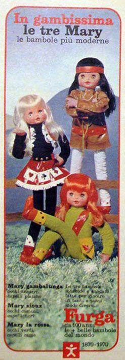 Le tre Mary gambalunga pubblicità 1970