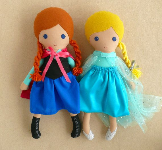 Reserved for Dianna Fabric Dolls Rag Dolls Elsa by rovingovine
