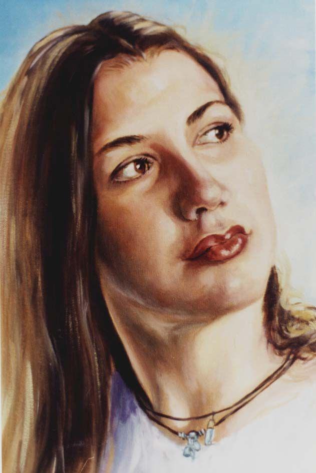 Retrato de madame Ferraro-Oleo sobre lino .