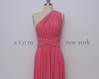 Pfirsich-Stock Länge Kleid lange Maxi Infinity Kleid von AtomAttire                                                                                                                                                                                 Mehr