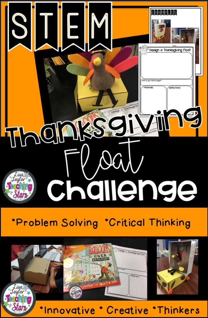 STEM Thanksgiving Day Parade Challenge will engage all your students during the November month. Students plan, design, and engineer a Thanksgiving Day Float. Your students will love going through the design process as they cover the Next Generation Science 3-5-ETS1-1 & 2. This activity can also be used for STEAM Activities, STEM After School Programs, Summer Programs, Clubs, Maker Spaces, or at home.