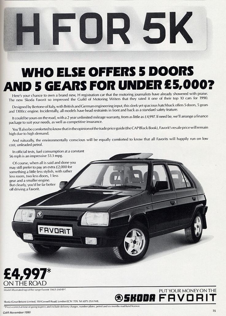 1990 Skoda Favorit