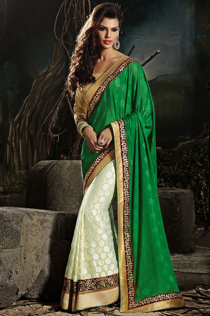 Scinitillating Georgette And Brasso Designer Saree to buy.....