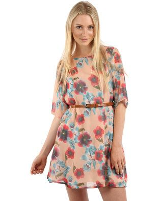 For a feminine and trendy look, opt for this mini floral patterned Belted Shift Dress by Rare London. Featuring three-quarter sleeves, a beautiful floral pattern and thin brown belt in the waist, this dress is loose-fitting while still outlining your waist. The fun and flirty look is ideal for women who want a youthful design while still looking sophisticated and mature. Wear this dress with a a brown leather jacket and brown ankle boots for a touch of bohemian, or with a cropped cream ...