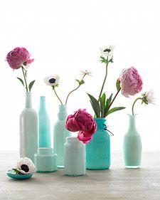 beautiful upcycled bottles