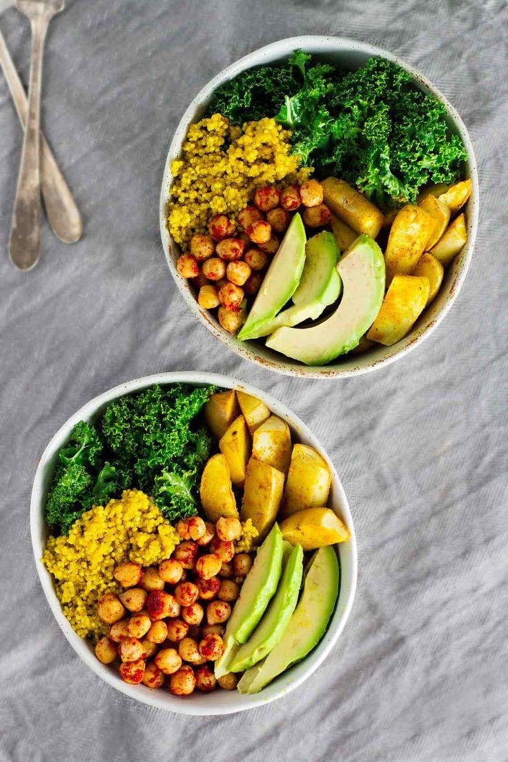 Vegan Turmeric Quinoa Power Bowls! Delicious ;)