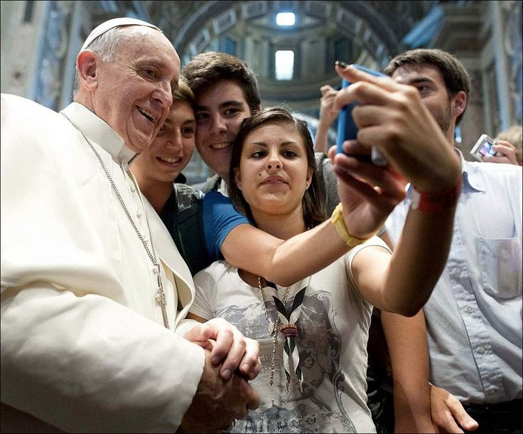 Unknown People · Selfie with Pope Francis · 2013