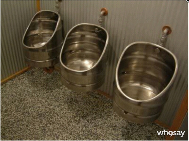 Man Cave Essential: Beer Keg Urinals! (via @darrenrovell)