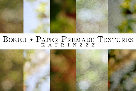 texture and bokeh round up- great resource