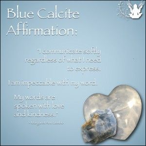 Blue Calcite Affirmation Meme