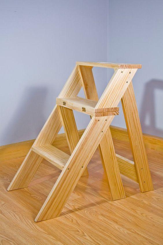 Silla escalera modelo benito carpinteria sillas for Silla escalera de madera