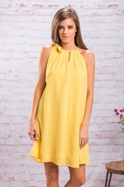 """Bright Morning Star Dress, Yellow"""
