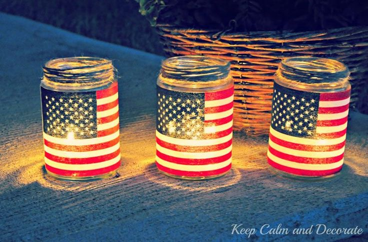 You can easily transform an old pickle jar into an American flag lantern with just a few simple materials.
