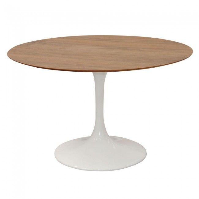 In BLACK - Lance Veneer Round Dining Table $895