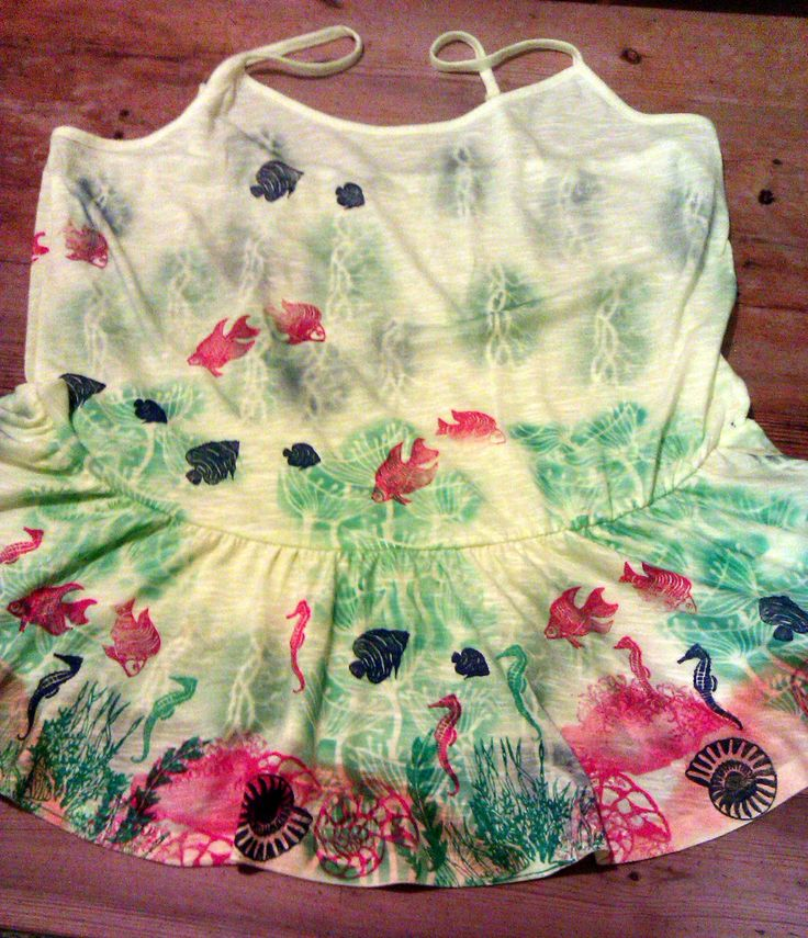 Hand painted peplum top - jazzed up for summer using stencils and stamps from Clarity #annewaller