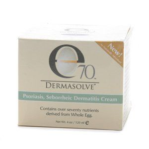 e70 Dermasolve Psoriasis, Seborrheic Dermatitis Cream - 4.0 Oz. by Dermasolve. $19.95. Can be used anywhere on the body including scalp and face (avoid contact with eyes). Contains over seventy nutrients derived from Whole Egg.. reat the symptons of Psoriasis, Seborrheic Dermatitis, Scalp Psoriasis, and Dandruff.. Not recommended for use on children under 12.. Dermasolve uses 1.8% salicylic acid to gently exfoliate dry, dead skin cell buildup. Using over 70 differ...