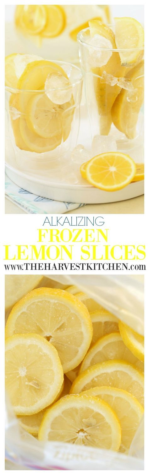 Add these Alkalizing Frozen Lemon Slices to water or herbal or green tea for added alkalizing, detoxifying and other nutritional benefits. For convenience, keep these Alkalizing Frozen Lemon Slices stored in the freezer at home or at work to add to your water daily.