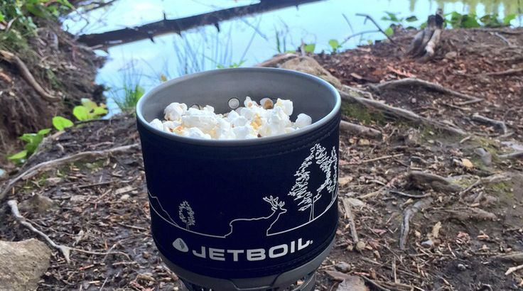 Jetboil (or any backpacking stove) Popcorn >>HAVE MADE.. works great! Love it! ~Janie<<