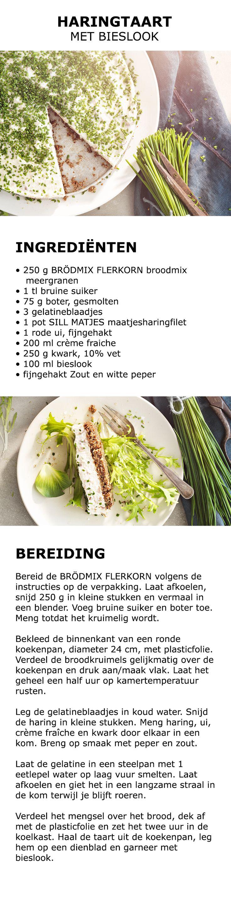 Inspiratie voor Midsommar - Haringtaart met bieslook | #koken #keuken #recept #gerecht #midsommar #zomer #vieren #traditie #zweeds #eten #drinken #hartig #taart #haring #taart