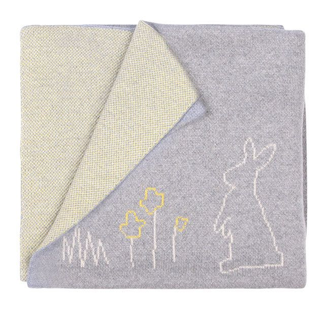 $66.00  IN STOCK: Delivery 1-3 Days Quantity:  1  Add to cart  Average: Not so great Okay Good Great Awesome Your rating: 5 Average: 5 (1 vote)  Categories:    Babu Gifts under $100 Blankets New Arrivals Sleeping   This soft and warm 100% Cotton Bunny blanket is the perfect addition to any nursery. So cute and one of our best sellers!  With a reversible yellow/grey marl or pink/grey side, you get the best of both worlds.