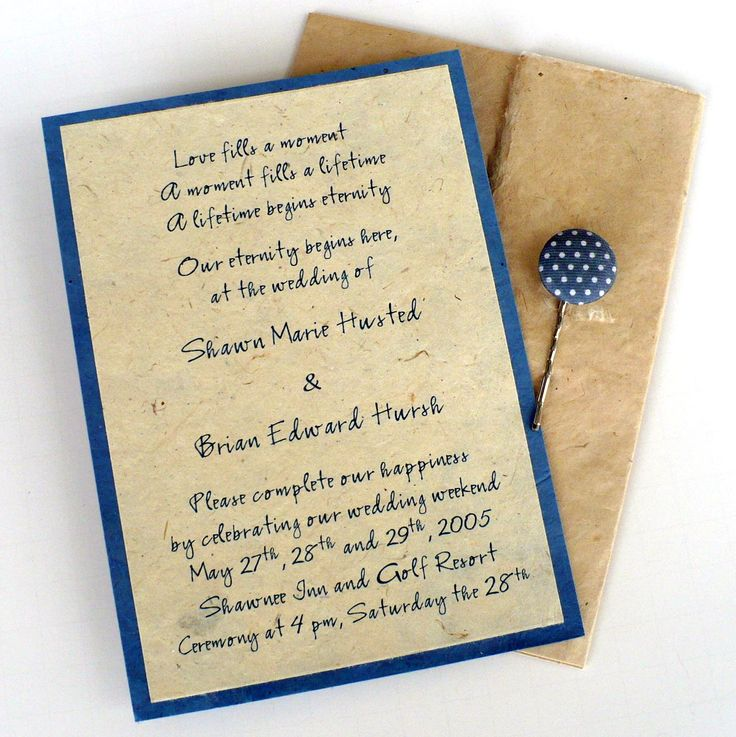 The 25 best handmade invitation cards ideas on pinterest unique wording for wedding invitations choosing exceptional wedding invitations not only lets your guests have the knowl stopboris Choice Image