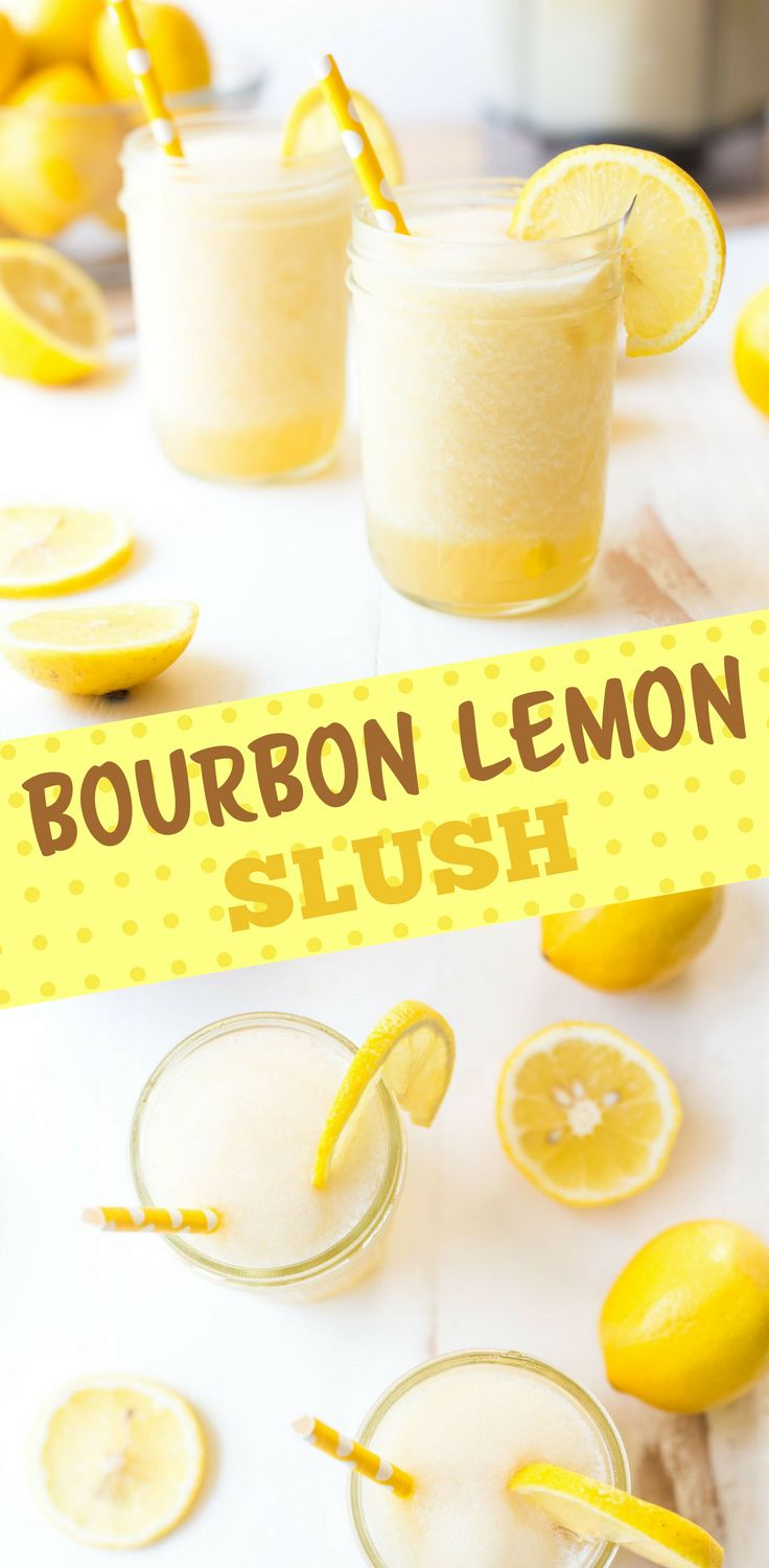 Sweet and sour bourbon lemonade slush is a refreshingly frozen cocktail that is perfect for making in batches and serving to a crowd.