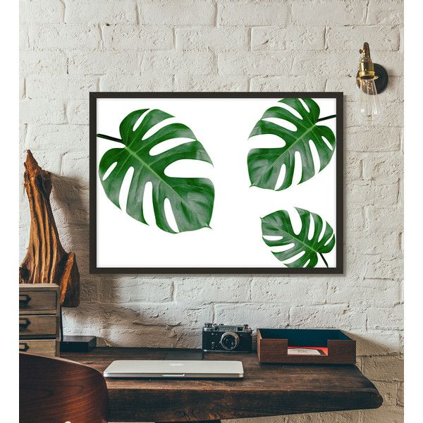 Palm leaf, Monstera leaf, Tropical poster, Botanical prints, Poster,... (69 ZAR) ❤ liked on Polyvore featuring home, home decor, wall art, word wall art, printable wall art, tropical posters, song lyric posters and typography poster