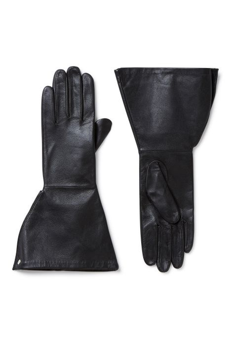 Weekday Whiz Leather Gloves in Black
