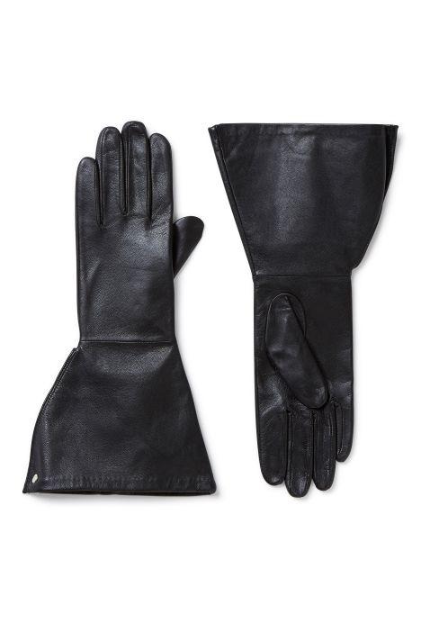 Weekday Whiz Leather Gloves in Black